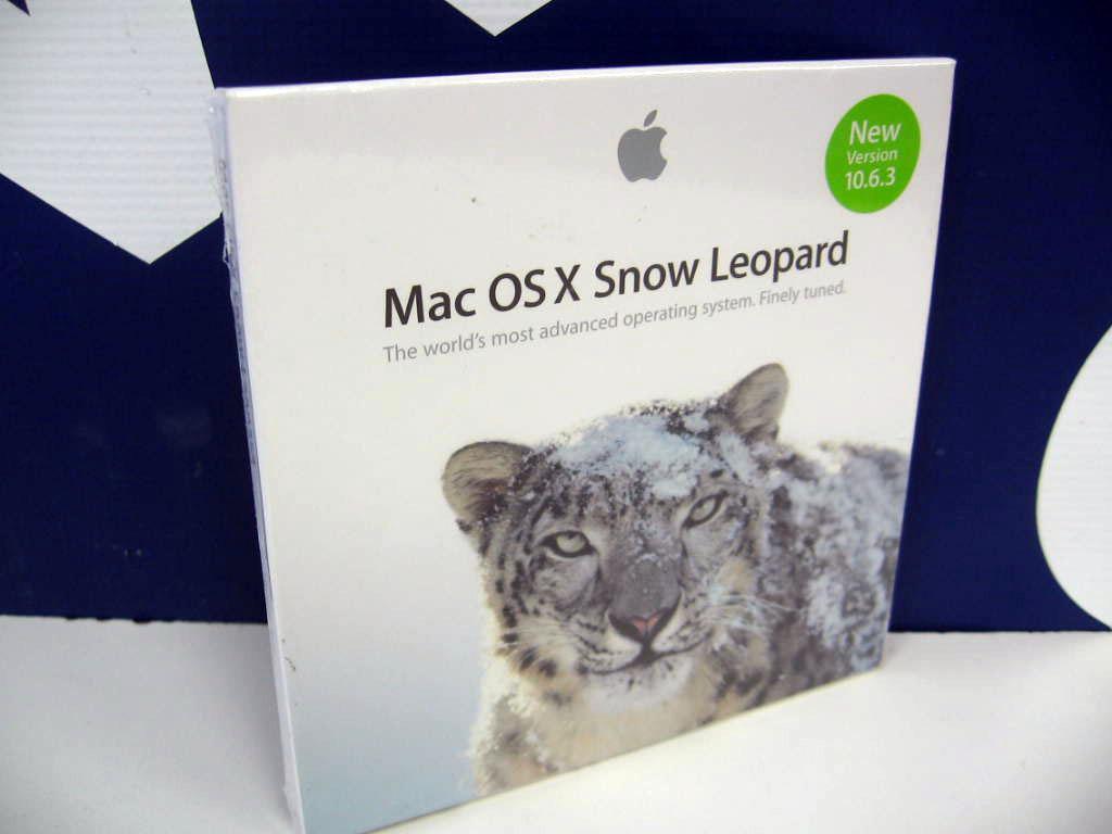 Apple Mac OSX Snow Leopard Version 10 6 3 New Box Install